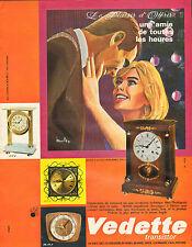 Publicité Advertising 1966  Vedette Transistor réveil pendule horloge montre ..