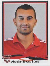 N°161 ABDULLAH ELYASA SUME # TURKEY GAZIANTEPSPOR STICKER PANINI SUPERLIG 2011