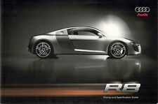 Audi R8 4.2 FSi Coupe 2007-08 UK Market Sales Brochure