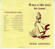 1950s Helena Rubinstein Advertising Brochure 10 ways to Cool Beauty this Summer