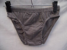 BNWOT Mens Sz Small 100% Cotton Smart Grey Clasic Style Briefs/Underpants