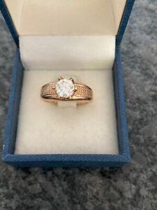 Ring Rosegold 585 Brillant