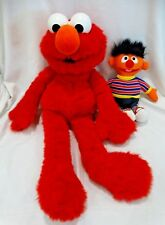 Vintage Elmo Plush Stuffed Animal Large with Ernie Musical Windup Stuffed Toy