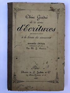 Choix gradue de 50 sortes d'écritures - BARRAU - 1853