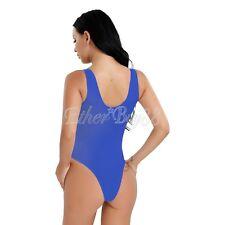 Sexy Women's Lingerie One-Piece Swimwear High Cut Sheer Leotard Thong Bodysuit