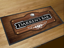 Personalised Beer Keg wood effect beer label bar runner Pubs Clubs & Bars