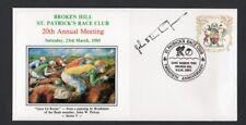 Broken Hill St Patrick's Race Club Brushmen of the Bush Artist Signed Cover 1985