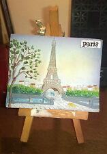 """Collezionismo/Souvenir""""PARIGI PARIS""""In Resina/Mis. cm.9x7/Altorilievo+Cavalletto"""