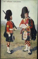Scottish Military Tartan Kilt Uniforms Postcard SEAFORTH HIGHLANDERS