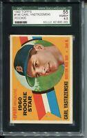 1960 Topps Baseball #148 Carl Yastrzemski Rookie Card Graded SGC VG EX+ 55 4.5