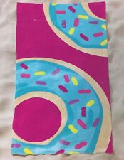 "Donut Cotton Beach Bath Towel Fuchsia 32"" x 62"""