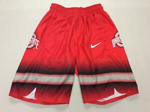 AUTHENTIC NIKE OHIO STATE BUCKEYES RED DRI-FIT BASKETBALL SHORTS MENS SMALL RARE