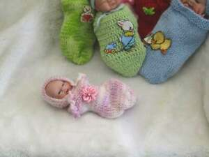 Polymer Clay hand sculpted one of a kind mini baby. With COA. Meet Ava