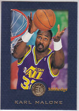 1995-96 SKYBOX E-XL BLUE PARALLEL: KARL MALONE #35 UTAH JAZZ NBA ALL-STAR MVP