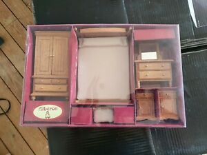 ALBERON DOLLS HOUSE Complete Bedroom furniture -new in box