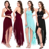 Neu Sexy Kurz LANG Abendkleid Cocktailkleid Ballkleider Partei PROM Größe:32-46