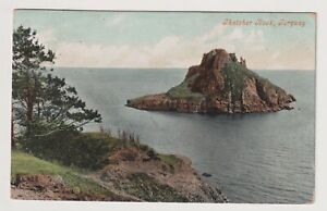 Devon Postkarte - Thatcher Rock, Torquay - P/U 1906 (A3576)