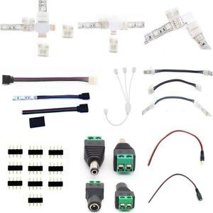 LED RGB Stripe Zubehör Verbinder Brücken Adapter Steckverbinder Kabel 4Pin 4 Pin