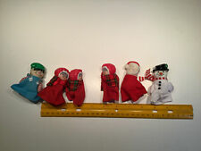 6 Finger Puppets Grandma, Elf, Santa, Snowman, Christmas