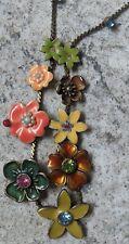 PILGRIM Necklace, Vintage, Cloissone, Enamel, Flowers/Crystals **VGC**