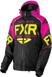 FXR ADULT Mens / Womens CLUTCH Black/Fuchsia/Hi Vis Snow Winter Jacket  - SMALL