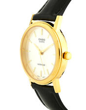 Casio Mens Womens White Face Black Leather Strap Watch New Boxed