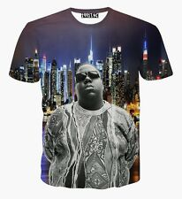 The Notorious B.I.G. Biggie Smalls T-Shirt Big Hip-Hop Rap Tee Women XL=Men M