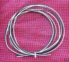 8 Ft Gavitt Black & White Cloth Push Back 22ga Wire For Vintage Guitar & Bass