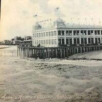 RPPC 1909 ASBURY Park, NY Postcard Asbury Avenue Casino Beach Waves Real Photo