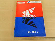MANUALE OFFICINA HONDA XL 125 V1 VARADERO 2001 MANUAL REPAIR