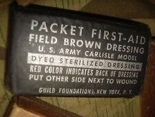 US Packed First Aid M42 M-42 Original US Army WWII Verbandspäckchen