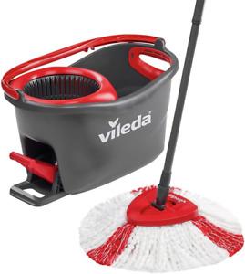 Vileda Easy Wring & Clean Turbo balai à frange + seau à pédale - set complet