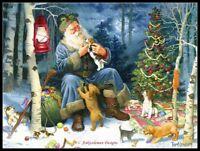 Old World Santa -  DIY Chart Counted Cross Stitch Patterns Needlework Christmas