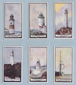 Cigarette Cards - Lighthouses (W.D. & H.O. Wills Ltd) - 12 Cards