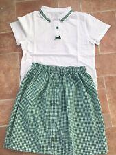 School Skirt  Handmade, With Matching Tshirt 8-9 Yrs