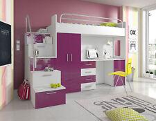 Doppelstockbett Etagenbett Doppelbett Jugend Bett Betten mit Schrank Tisch RAJ4