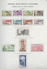 Lot timbres oblitérés Afrique Equatoriale Française poste aérienne Du Du N°1 au