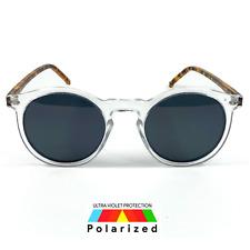 NWT Cool Polarized Sunglasses Men Women Round Retro Style Smoke Lens POL112