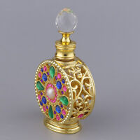 Antique Miniature Empty Glass Perfume Storage Bottles Case Box 10ML Crafts