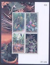 Thailand 2001 International Correspondence Week MInisheet - Plants MNH