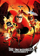 THE INCREDIBLES MOVIE POSTER PRINT A4 260GSM