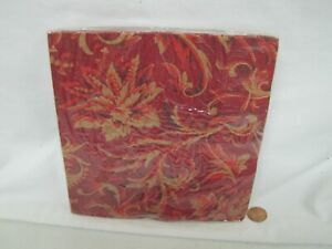 New Hallmark PAPER NAPKINS ELEGANT RED/GOLD FLORAL Party Express 16 Decoupage