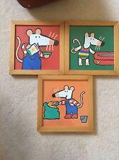 Vintage Cartoon mouse Children's Artwork - Set Of 3Three Pames