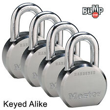 Master Lock Pro Series-(4) High Security Padlocks Keyed Alike 6230NKA-4 BumpStop