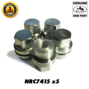 LAND ROVER WHEEL LUG NUTS SET x5 RR CLASSIC DEFENDER DISCOVERY I NRC7415 GENUINE