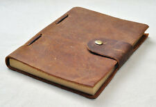 HANDMADE LEATHER JOURNAL TRAVEL DIARY STITCHED TRAVELERS NOTEBOOK HAND MADE