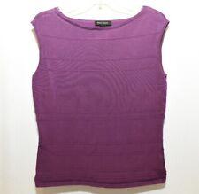 White House Black Market Purple Sleeveless Shirt Blouse Large Stretch Tank