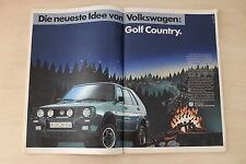 VW Golf II Country syncro - Anzeige/Werbung