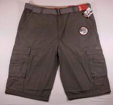 NWT Men's Unionbay Cargo Shorts ~ Cordova Messenger Belted Cargo ~ Gray ~ 40