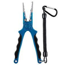 Aluminium Fishing Pliers Hook Remover Braid Cutters Split Ring 7 1/10Inch Blue